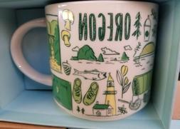Starbucks Been There Across the Globe Series Mug 14 oz OREGO