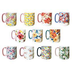 Bella Floral Coffee Mug 14oz Ceramic 10 Strawberry Street Co