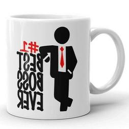 BEST BOSS EVER Coffee Mug #1 Boss Gift for Manager Funny Wor