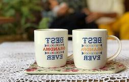 Best Grandma Grandpa Ever Coffee Mug Gift Set Mugs Anniversa
