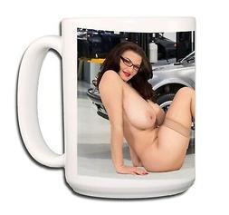 BIG BOOBS PIN UP Garage Workshop Glamour EXTRA LARGE COFFEE