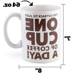 Big Giant Coffee Mug Huge Ceramic Tea Cup 64oz Large Mouth F