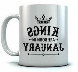 Birthday Gift for Men - KINGS Are Born In January Ceramic Co