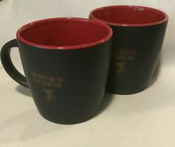 Fireball Whisky Black & Red Coffee Cups/ Mugs - Set of 2 - N