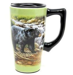 Black Bear Travel Mug by Spoontiques - 12457