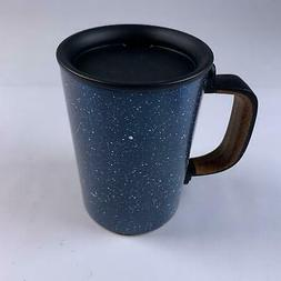 Starbucks Black Ceramic Desktop Mug Silicone Nonslip Bottom