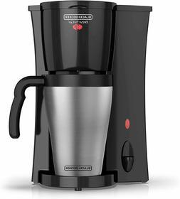 BLACK+DECKER Personal Coffee Maker with 15 oz Travel Mug Sta