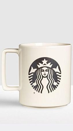Starbucks Black Logo Mermaid Mug 2015 Made in USA 14 Oz