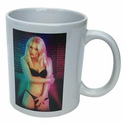 Blonde Stripper Heat Morphing Coffee Cup Mug - 10 Ounces - M