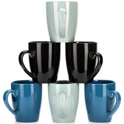 Blue Coffee Mug Set - Hand Made Stoneware Ceramic - by LVKH