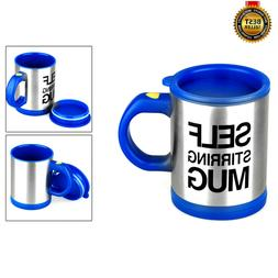 Blue Self Stirring Mug Coffee Cup Tea Auto Mixer Drink Insul