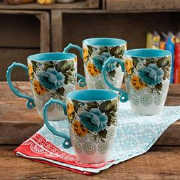 The Pioneer Woman 26-Ounce Beautiful Blue and Yellow Rose Sh