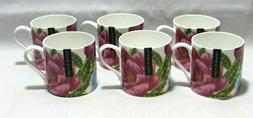 Portobello By Inspire Bone China Set of Six Coffee Mugs Mult