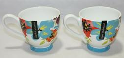 Portobello By Inspire Bone China Set of Two Coffee Mugs Mult