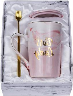 Boss Lady Mugs - Best Gifts for Mom Female Boss Friend 14oz