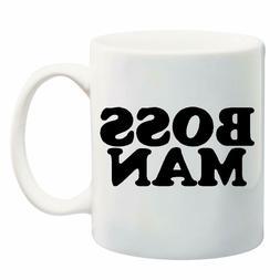 BOSS MAN Coffee Tea Drink Funny Cute Ceramic Mug Cup 11OZ Gi