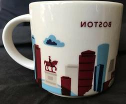 "Starbucks Boston ""You Are Here"" Coffee Mug Cup 14 Oz Col"