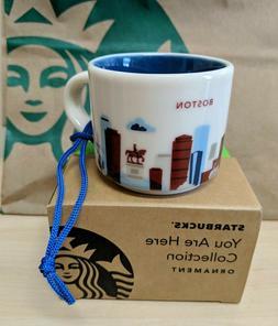 Starbucks BOSTON  You Are Here Collection ORNAMENT Demi Mug