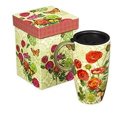 Botanical Ceramic Latte Travel Mug