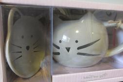 BOX SET 10 Strawberry Street 2-pc. Cat Mug & Trinket Set One