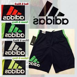 ADIDAS Boys Athletic Basketball Shorts Pockets Sports ALL SI