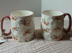 10 Strawberry Street Brand Flower Pattern Ceramic Cup Mug Di