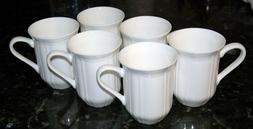 BRAND NEW Antique White MIKASA Cappuccino Mug Cup SET of SIX