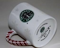 BRAND NEW, Starbucks Barista Raised Snowflake Ceramic Coffee