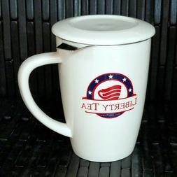 BRAND NEW Liberty Tea Tall 15 Oz Tea Mug Cup with Infuser an