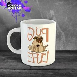 Breastfed Cofee Funny Ceramic Mugs Home Kitchen Tea Mug Pug