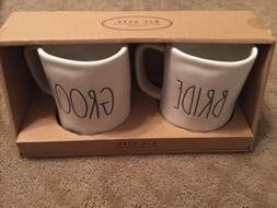 Rae Dunn Bride And Groom Mug Set, New In Box