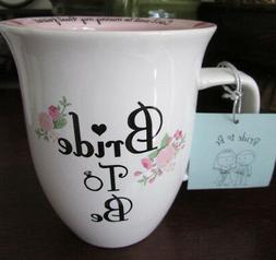 BRIDE TO BE MUG  Coffee Cup pink white, Engagement NEW