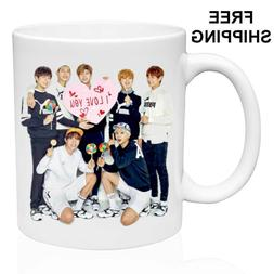 BTS, Birthday, Christmas Gift, White Mug 11 oz, Coffee/Tea