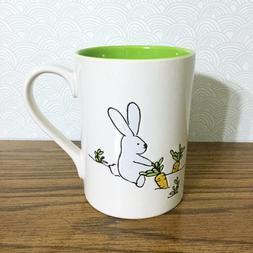Bunny Garden Coffee Mug Large 18 oz TAG Ceramic Spring Rabbi
