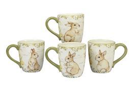 Certified International Bunny Patch 20 Ounce Mugs Set 4 Kitc