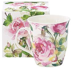 Burton & Burton 9726810 Porcelain Mug Roses, Pink