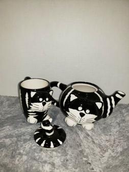Burton & Burton Chester The Cat Black & White Stripes Kitty
