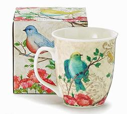 burton birds flower blossoms coffee mug
