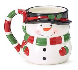 Burton and Burton Snowman Shape Ceramic Coffee Mug, 15 oz.