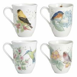 Lenox  Butterfly Meadow Flutter Birds Coffee Tea Mugs Set of