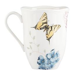 Lenox Butterfly Meadow Hydrangea Mug, White