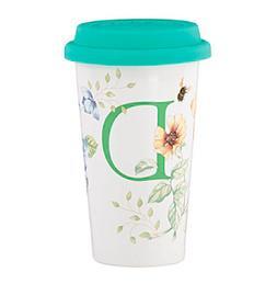 "Lenox® Butterfly Meadow® Initial ""D"" Travel Mug"