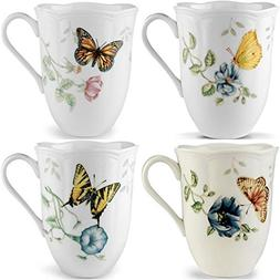 Lenox Butterfly Meadow 12oz Mugs, Assorted Set of 4