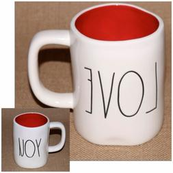 Rae Dunn by Magenta LL LOVE YOU Double-Sided Mug w/RED Inter