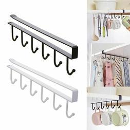 Cabinet Clothes Hanging Cup Holder Storage Rack Glass Mug Ho