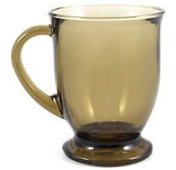 Anchor Hocking Café Mug, Mocha, Set of 6