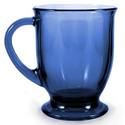 Anchor Hocking Cafe Oversized Coffee Mug - Denim Blue