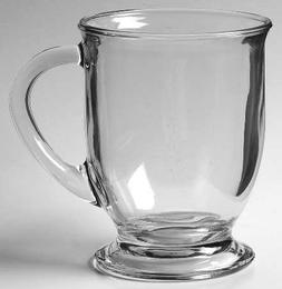 Anchor Hocking Cafe Oversized Coffee Mug - Clear Glass