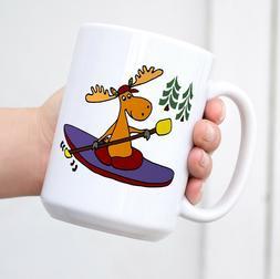 Cafe Press Kayaking Moose Coffee Mug Tea Cup Large White Cof