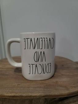 "Rae Dunn ""Caffeinate and Educate"" Mug Teacher Gift LL By"